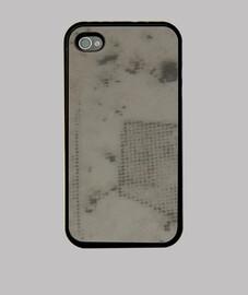 Funda iPhone 4, negra con diseño inusual