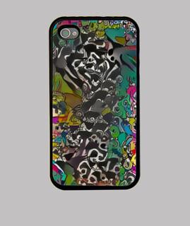 Funda iPhone 4, negra Diseño Byai