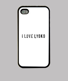 Funda iPhone 4, negra I LOVE LYOKO