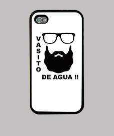 Funda iPhone 4, negra Ignatius Vasito de agua