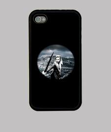 Funda iPhone 4, negra Lagertha