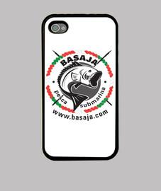 Funda iPhone 4, negra logo blanco y negro ikurriña handi