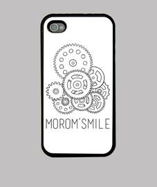 Funda iPhone 4, negra MoroM's logo