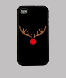 Funda iPhone 4, negra Rudolf