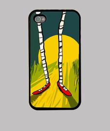 Funda iPhone 4, negra/Dorothy