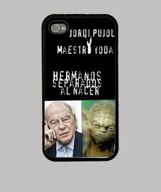 Funda iPhone 4: Pujol y Yoda