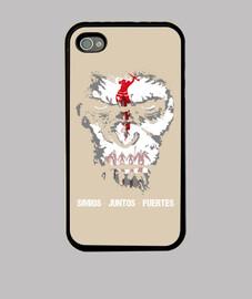 Funda iPhone 4 Simios juntos fuertes