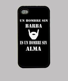Funda iPhone 4 Un hombre sin barba...