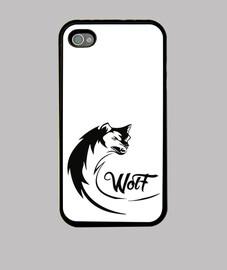 Funda iPhone 4, Wolf Art