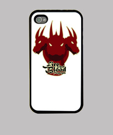 Funda iPhone 4 y 4s - Fire and Blood