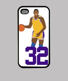 Funda iPhone 4 y 4s - Magic Johnson