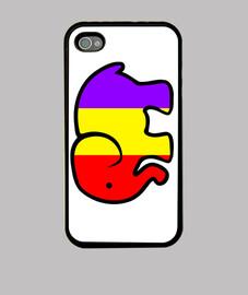 Funda iPhone 4 y 4S Elefante Republicano
