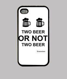 Funda iPhone 4 y S4. Two beer or not two beer