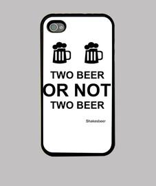 Funda iPhone 4 y S4. Two beer or not two beer