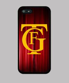 Funda iPhone 5 / 5s, diseño logo teatro Falla amarillo