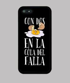 Funda iPhone 5 / 5s, negra Diseño colo del Falla