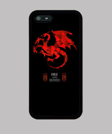Funda iPhone 5 / 5s, negra GOT Targaryen house