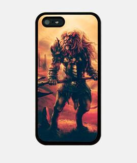 Funda iPhone 5 / 5s, negra leon