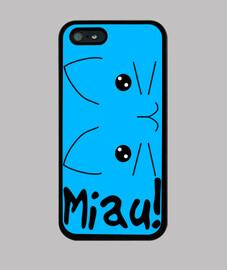 Funda iPhone 5 Azul Gato