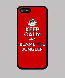 Funda iPhone 5 Keep calm and Blame jungler