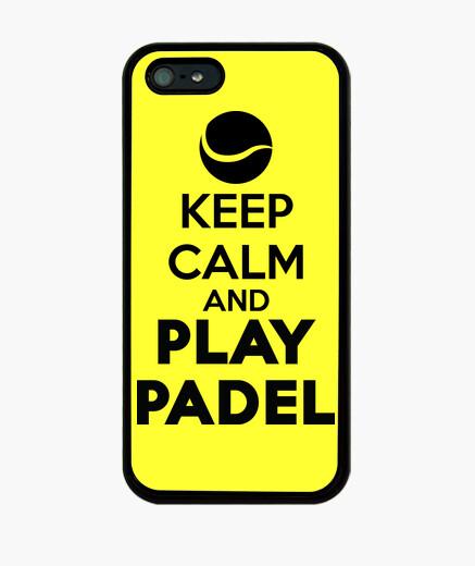 Funda Iphone 5 Keep calm and Play Padel