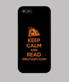 Funda iPhone 5 Keep calm and read VirutasF1