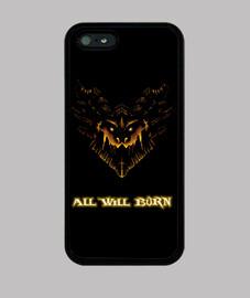 Funda iPhone 5 negra - Deathwing