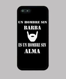Funda iPhone 5 Un hombre sin barba...
