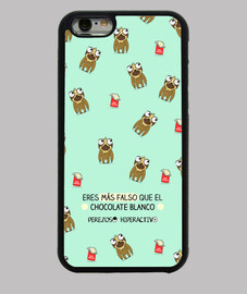 Funda iPhone 6. Chocolate blanco