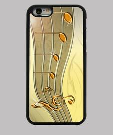 Funda iPhone 6 con pentagrama dorado