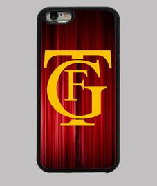Funda iPhone 6, diseño logo teatro Falla amarillo