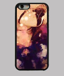 Funda iPhone 6, negra aesthetic