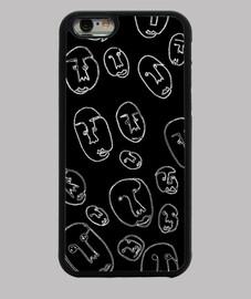 Funda iPhone 6, negra caras un solo trazo
