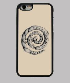 Funda iPhone 6, negra espiral redonda