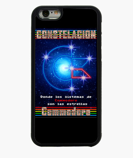 Funda iPhone 6 6 Negra Logo Constelación Commodore