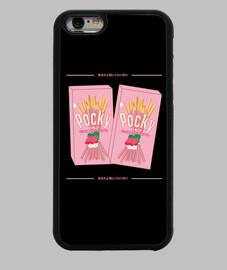 Funda iPhone 6, negra Pocky japonés