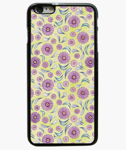 Funda iPhone 6 Plus / 6S Plus 1 Floral on Lime