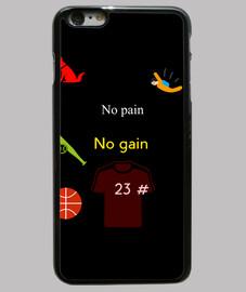 Funda iPhone 6 Plus,  no pain no gain