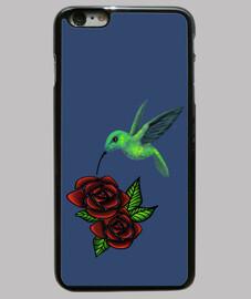 Funda iPhone 6 Plus, azul colibri