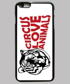 Funda iPhone 6 Plus Circus Love Animals