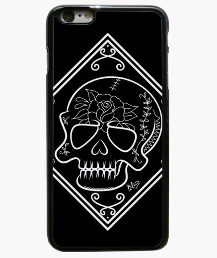 Funda iPhone 6 Plus / 6S Plus 6 Plus, Cráneo flor