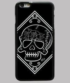 Funda iPhone 6 Plus, Cráneo flor