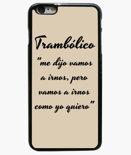 Funda iPhone 6 Plus Funda tramboliko iPhone 6 Plus, negra