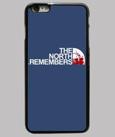 Funda iPhone 6 Plus, Juego de Tronos. The north remembers. The north. Face. El norte recuerda. El no