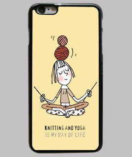 Funda iPhone 6 PLUS Knitting and Yoga