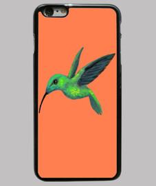 Funda iPhone 6 Plus, naranja colibri