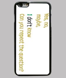 Funda iPhone 6 Plus, negra-malcolm