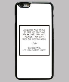 Funda iPhone 6 Plus, negra - Vinyl Lover