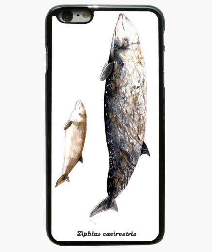 Funda iPhone 6 Plus / 6S Plus 6 Plus, negra  Zifio de Cuvier