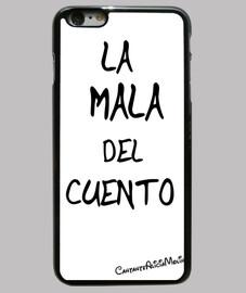 Funda iPhone 6 Plus, negra Con Titulo De Mi Cancion  LA MALA DEL CUENTO